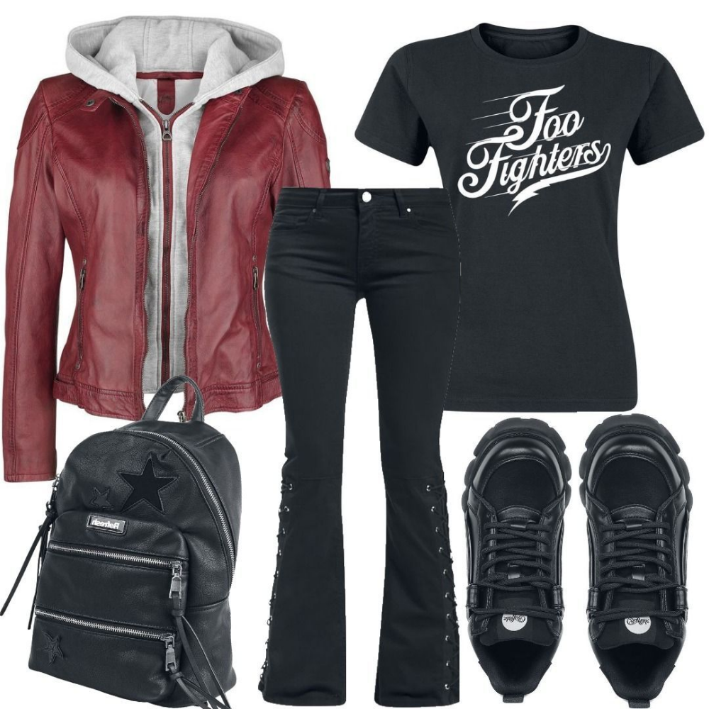 big sale 18a95 b227e Foo Fighters Logo T-Shirt Outfit für Damen zum Nachshoppen ...