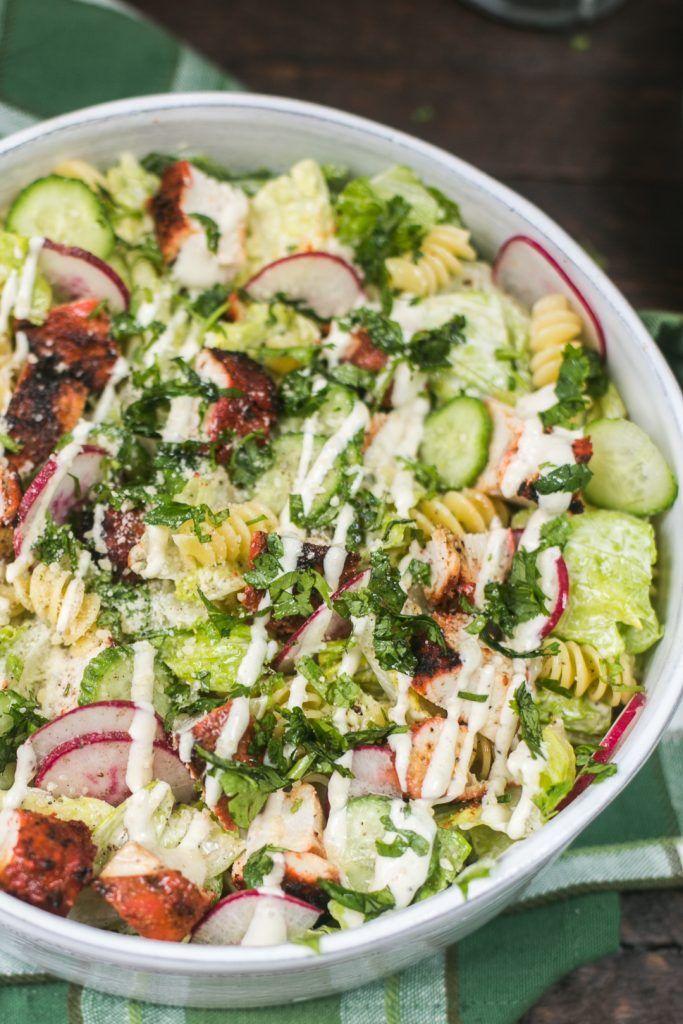 Tandoori Chicken Caesar Pasta Salad – The Chutney Life #tandoorichicken