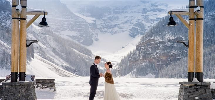 Peak Photography Lake Louise Wedding Photographer Prenita Paul Ice Castle Stunning Winter Weddings In The Canadian Rockies Pinterest