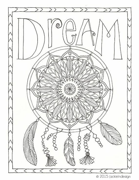 DreamCatcherColoringPagesforAdults dream coloring