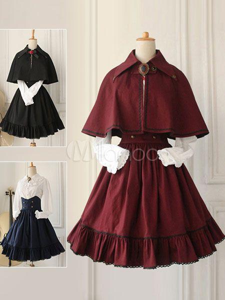 Gothic Lolita Dress Cross Regression Victorian Vintage SK Lolita Skirt #dollvictoriandressstyles