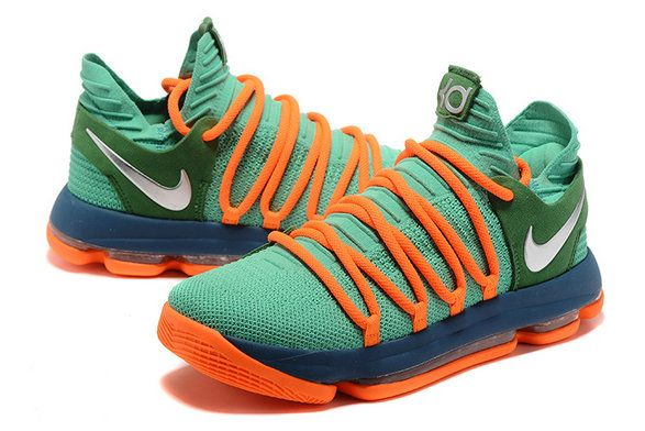 size 40 618c6 fd7d3 KD 10 X EP Green Orange 897816 10 X6 Kevin Durant Mens Basketball Shoes Shop