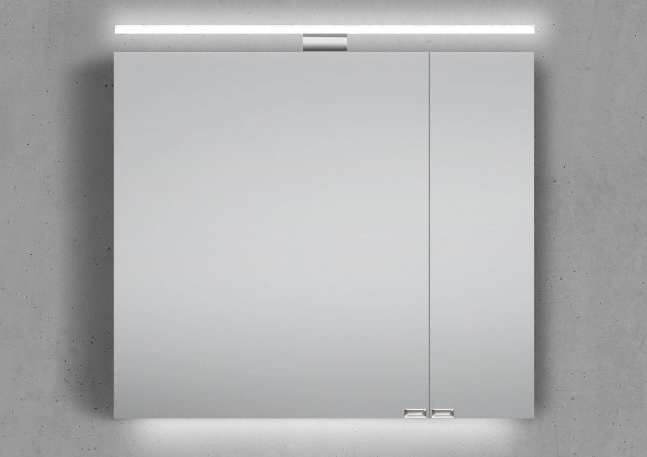 Spiegelschrank 80 Cm Inkl Led Beleuchtung Doppelt Verspiegelt