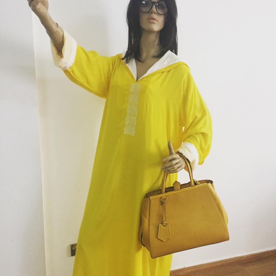 #jellaba#jaune#by#elilou