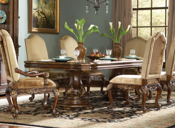 Beladora Rectangular Double Pedestal Dining Table - CLOSEOUT   Hooker Furniture   Home Gallery Stores