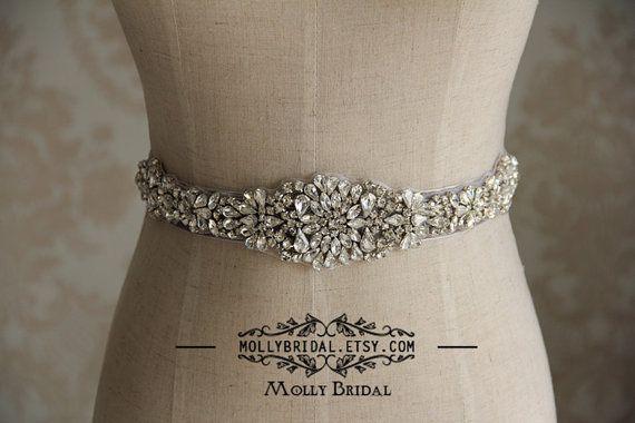 Wedding Sash, Wedding Belt, Crystal Belt, Sash Belt,  Crystal Rhinestone Belt. on Etsy, $45.90