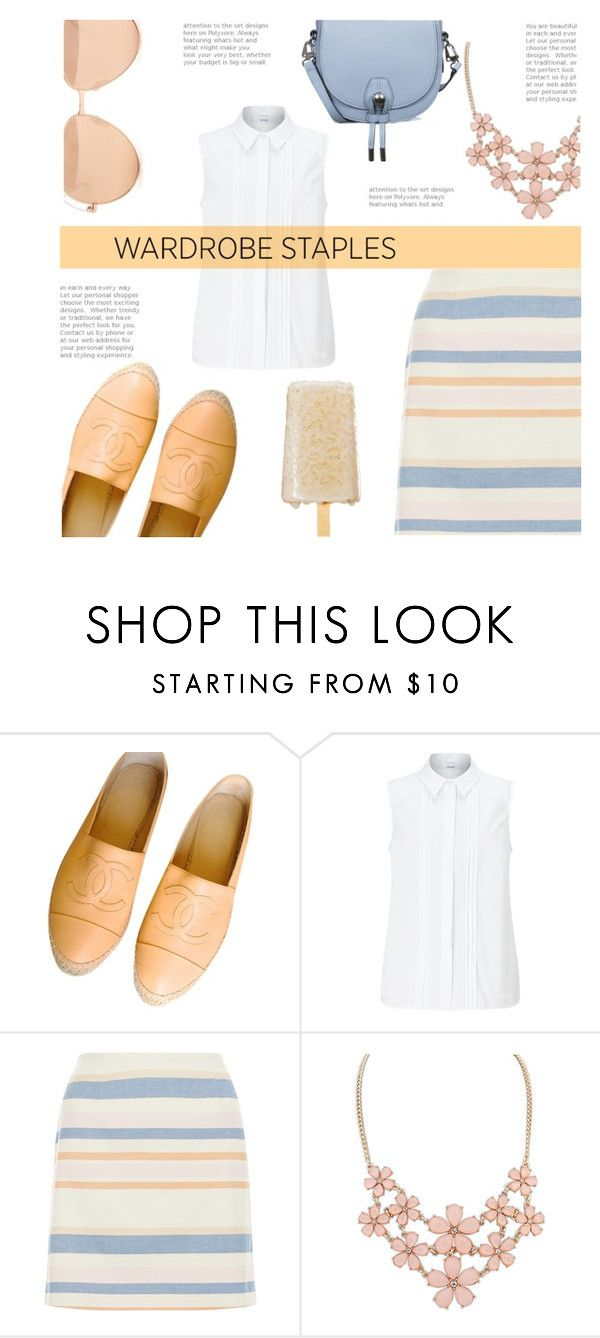 """""""white shirt"""" by rehannah-o ❤ liked on Polyvore featuring Chanel, John Lewis, New Look, Linda Farrow, whiteshirt and WardrobeStaples"""