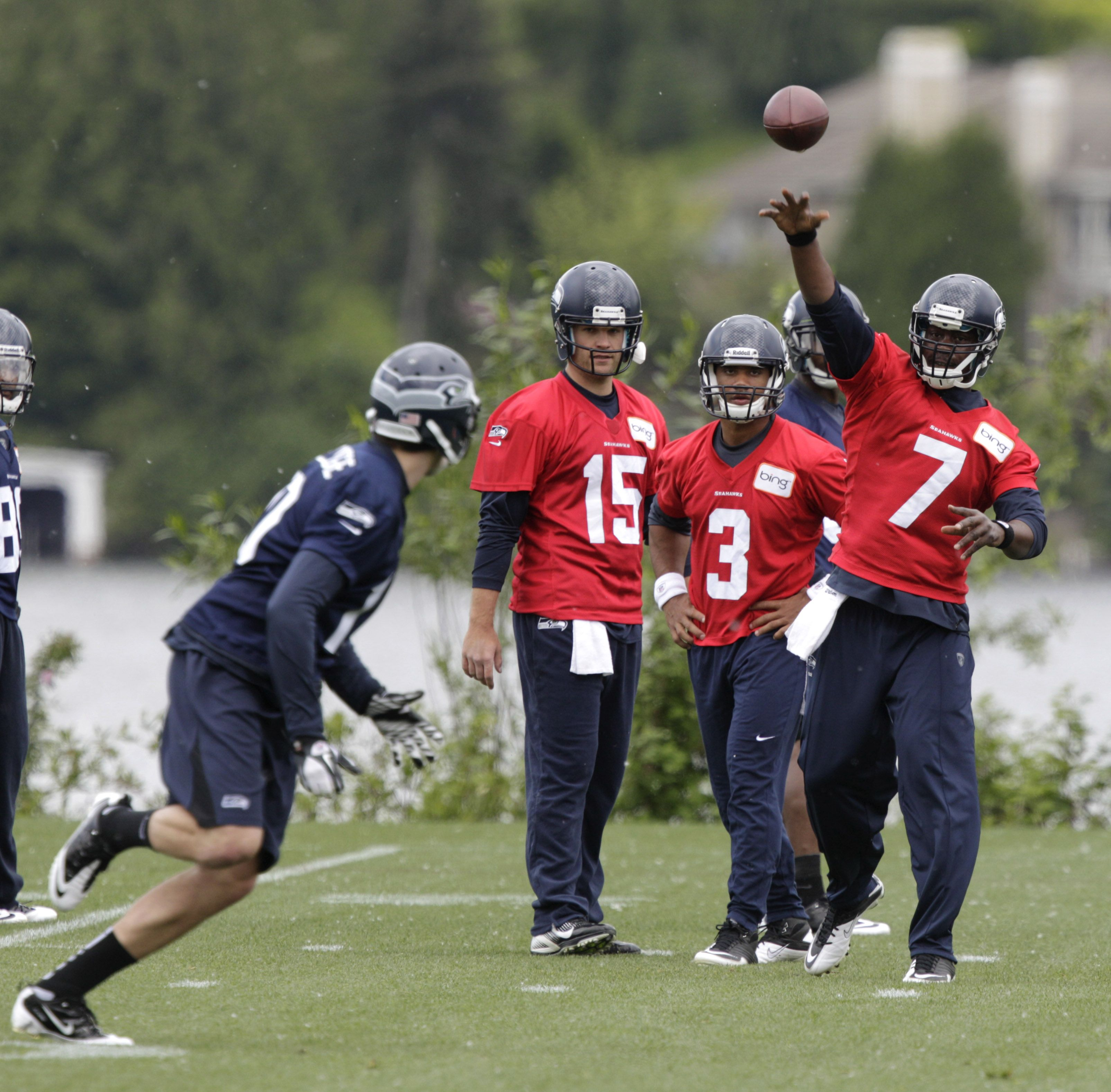 Morning links QB battle takes center stage Seahawks