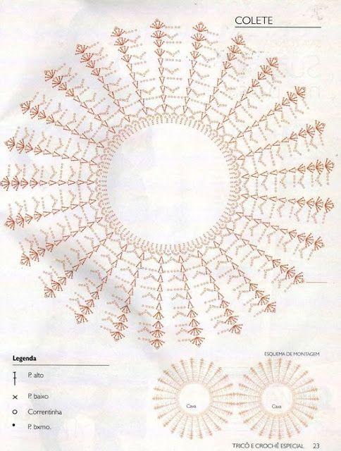 Patron Crochet Chaleco 2 Semicirculos - Patrones Crochet   mis ...