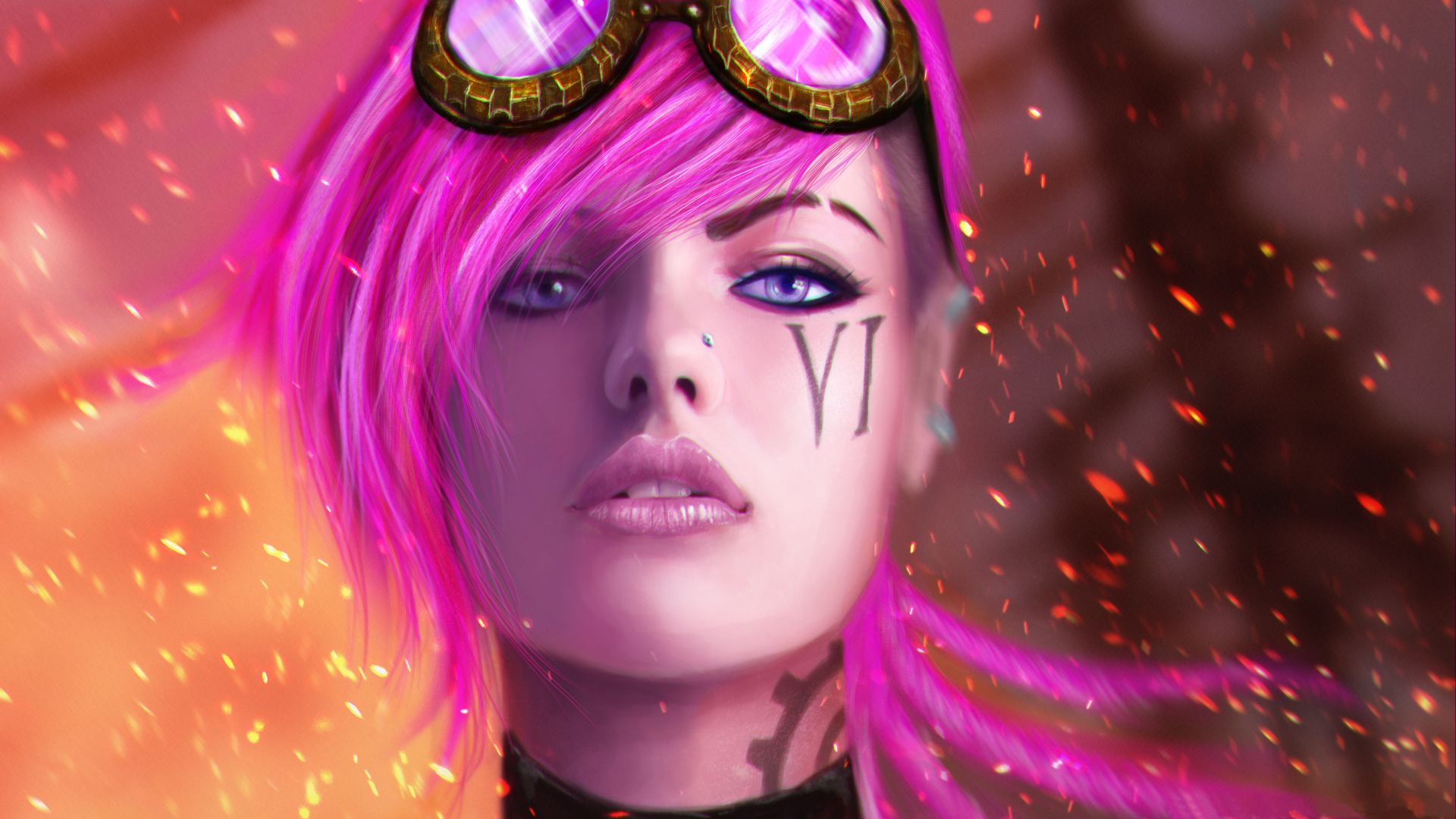 Vi Art Of Lol League Of Legends Game Vi League Of Legends League Of Legends