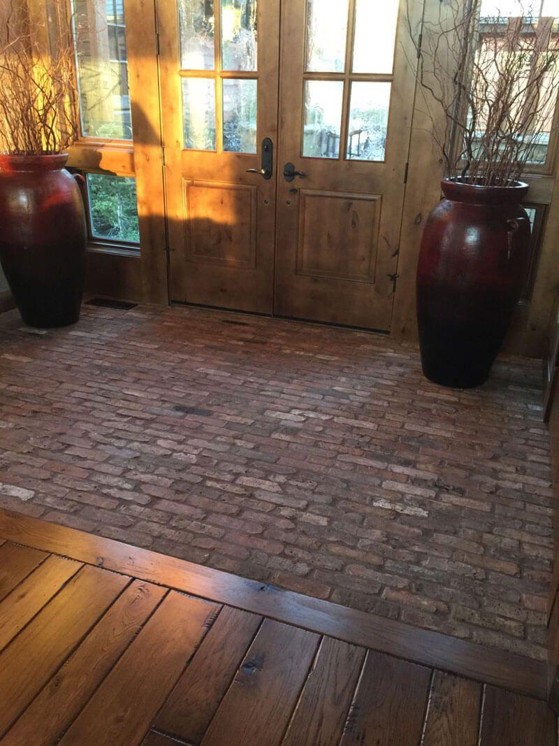 Reclaimed Brick Floor Entryway Brick Flooring Entryway