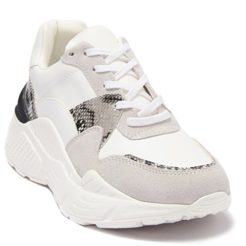 Reverse Leather Suede Snack Embossed Sneaker In 2021 Steve Madden Sneakers Sneakers Print Sneakers
