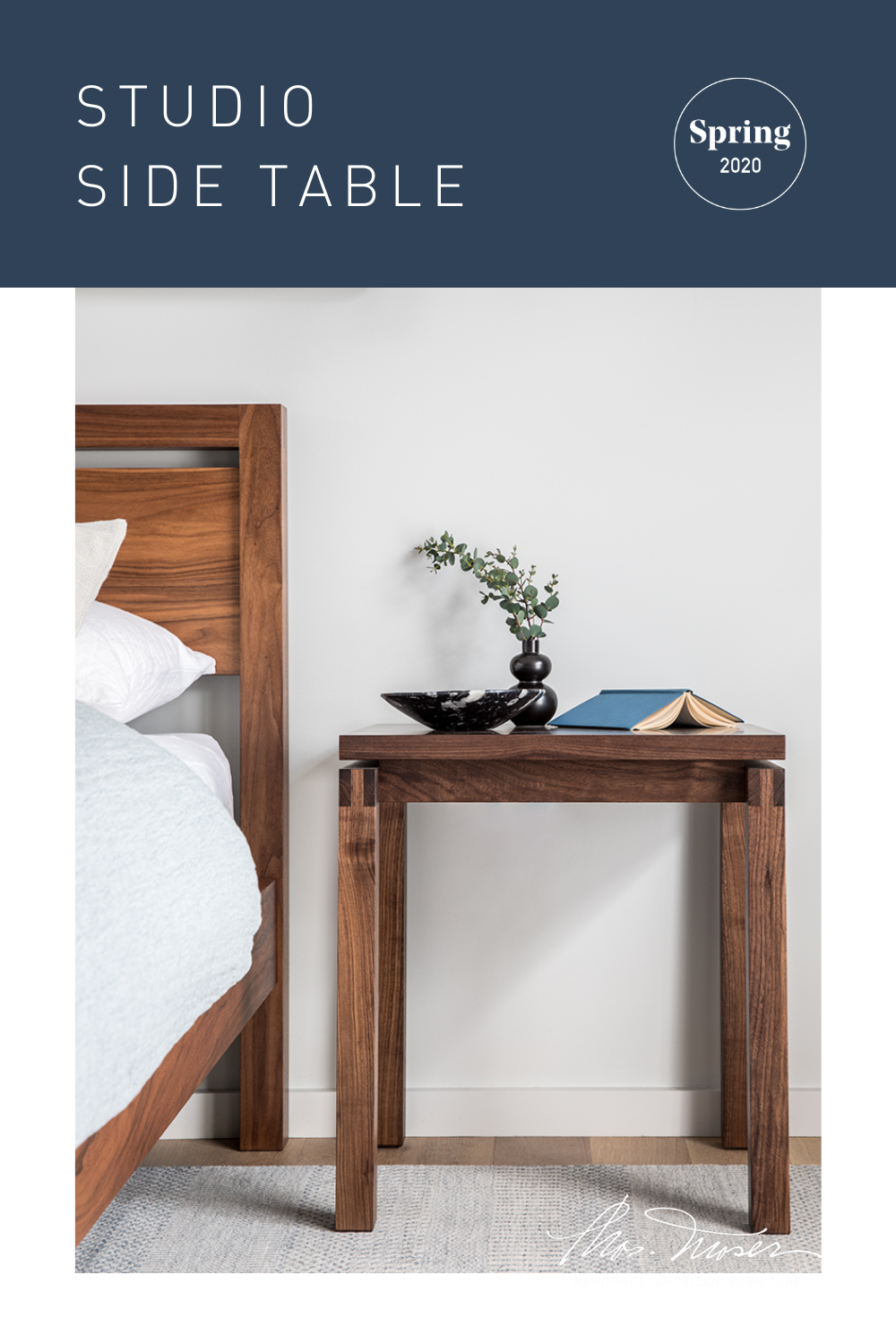 The Studio Side Tables provide an assortment of storage configurations while maintaining a minimal aesthetic. Each version of the table utilizes a mitered case construction with an understated bevel around the case front. Perfect as a nightstand or side table.      #sidetable #nightstand #endtable #smalltable #woodentable