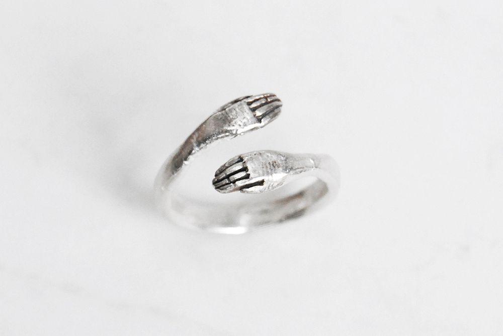 Datter Industries - protective hand ring - silver, £42.00 (http://www.datterindustries.com/protective-hand-ring-silver/)