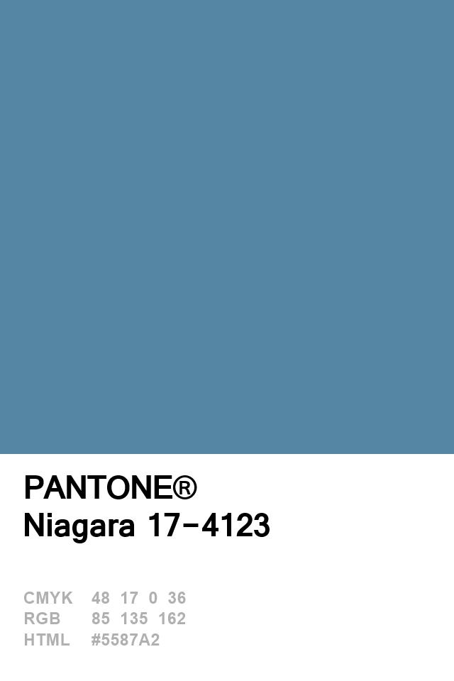 Pantone 2017 Niagara | color in 2019 | Pantone blue, Color ...