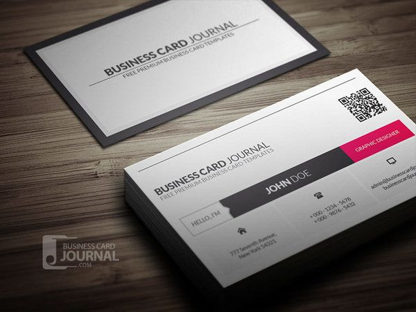 Metro style business card template with qr code by jerry yee via free metro style business card template with qr code reheart Image collections