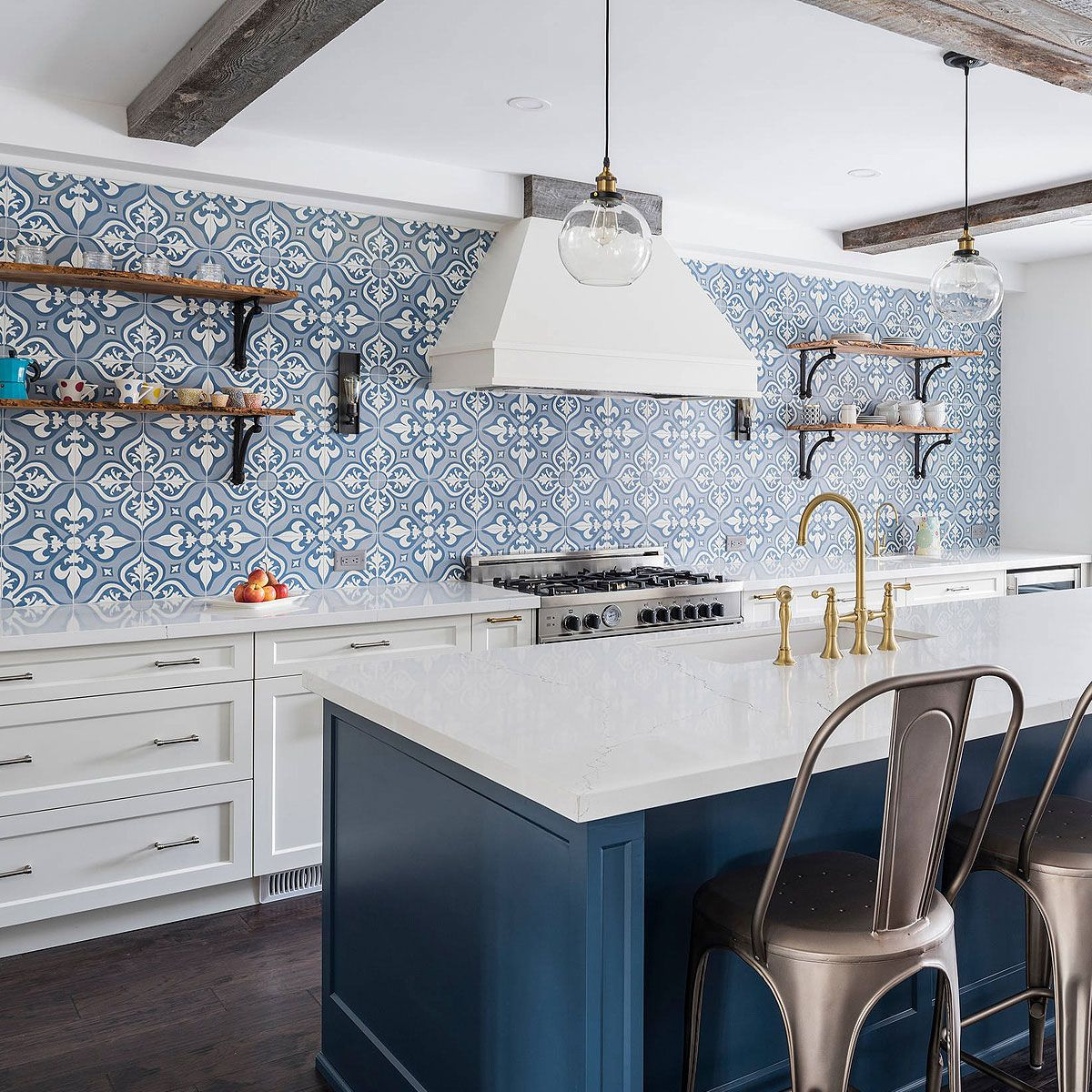 75 Blue Backsplash Ideas Navy Aqua Royal Or Coastal Blue Design Blue Backsplash Custom Kitchen Backsplash Blue Backsplash Kitchen