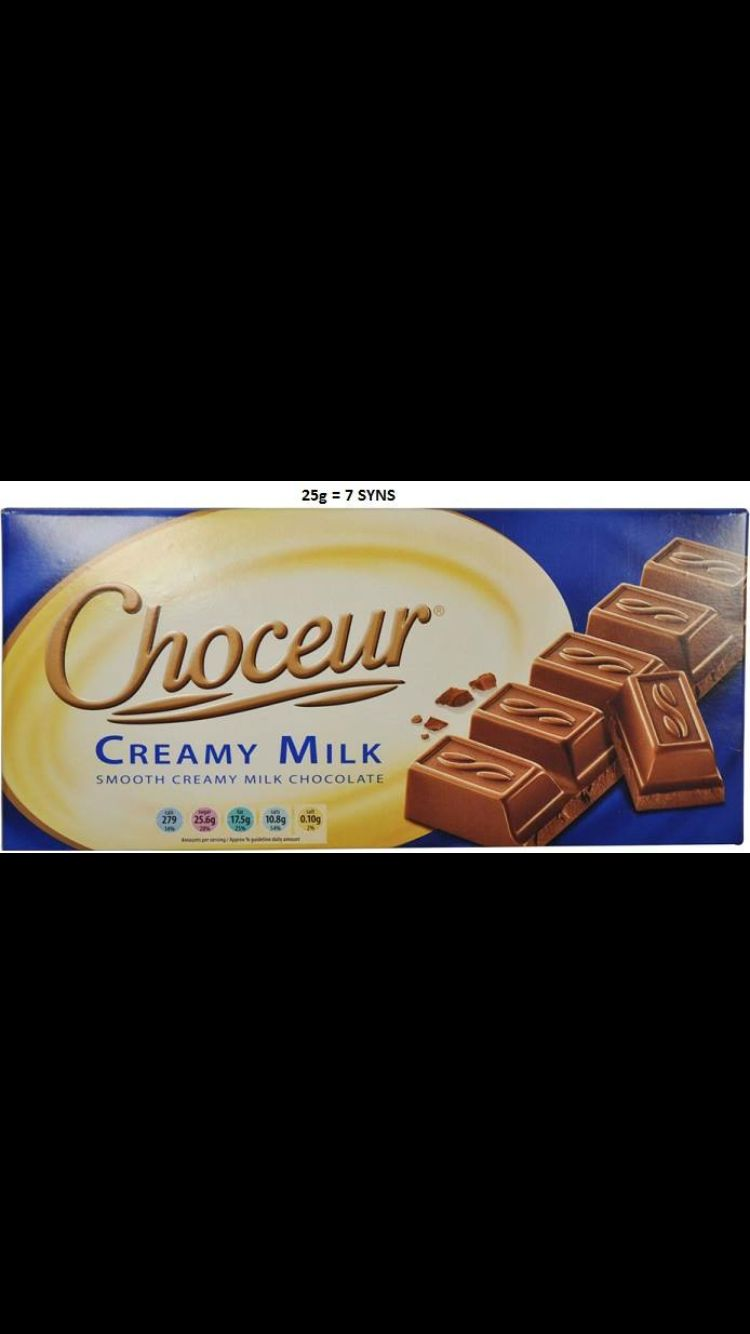 Aldi Choceur 25g 7 Syns Slimming World Syns Slimming