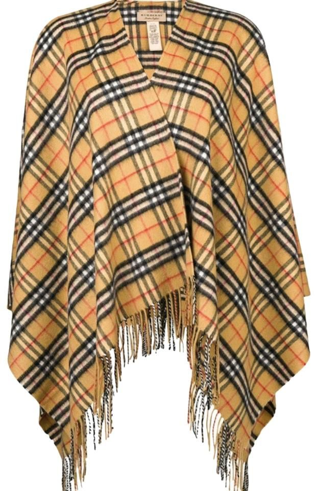 Burberry Checked Cashmere and Merino Wool Warp Scarf/Wrap #ponchosweater