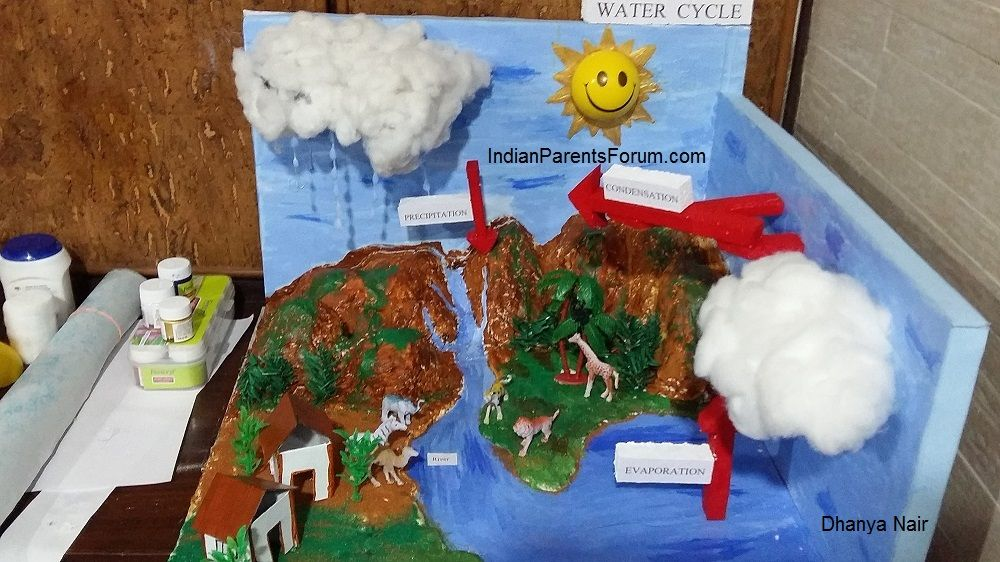 How To Make 3D Model Of Water Cycle | D, Science and Models