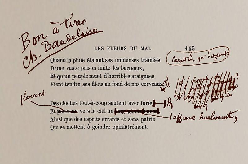 Les Epreuves Corrigees Des Fleurs Du Mal En Librairie Les