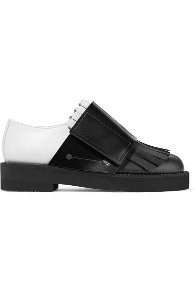 bab9bfedf71 MARNI Fringed two-tone leather brogues.  marni  shoes  平底鞋 ...