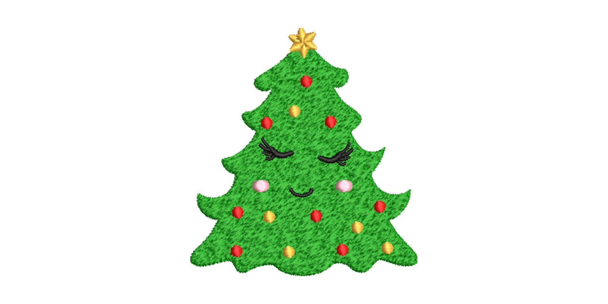 stickdatei christbaum gesicht 10x10 maschinenstickerei