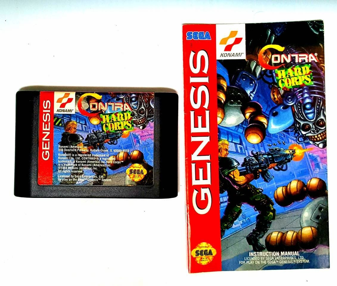 contra hard corps sega genesis game w instruction manual cleaned rh in pinterest com new world es50s instruction manual new world dw60 instruction manual