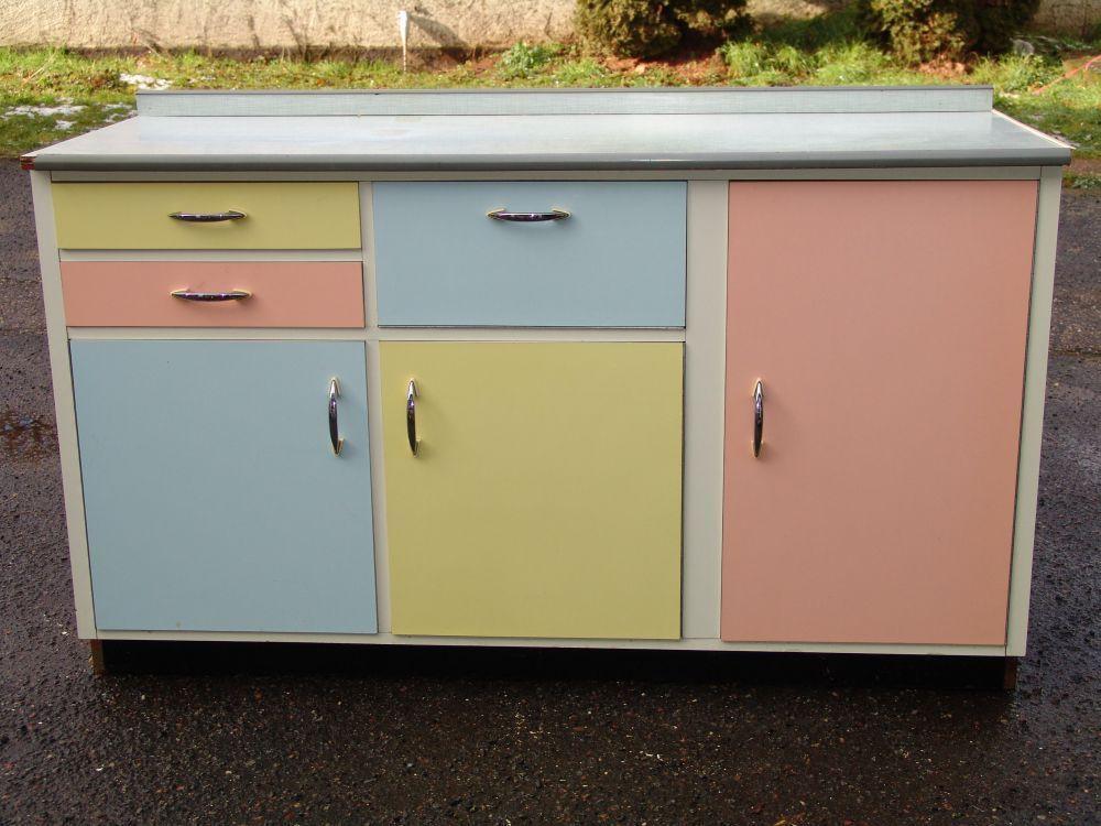 50er Jahre Küchenschrank - bunt 50er Pinterest Kitchen