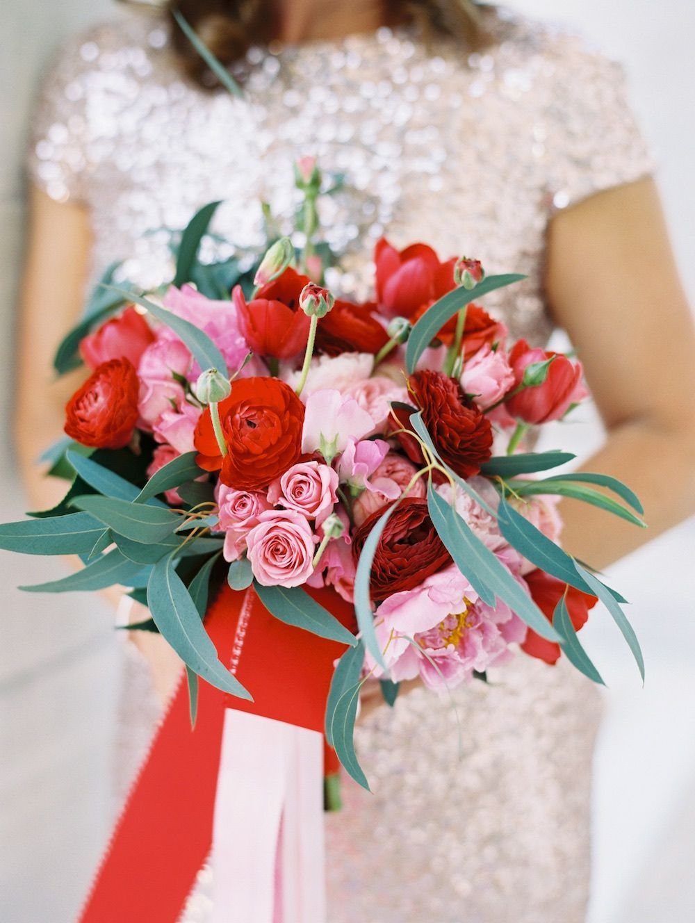 Romantic Black And White Washington Dc Wedding With Pink And Red