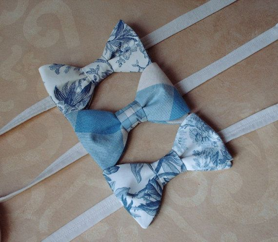 Blue And White Pre Tied Style Bow Ties / by CarolynnRedwineGeer, $58.00