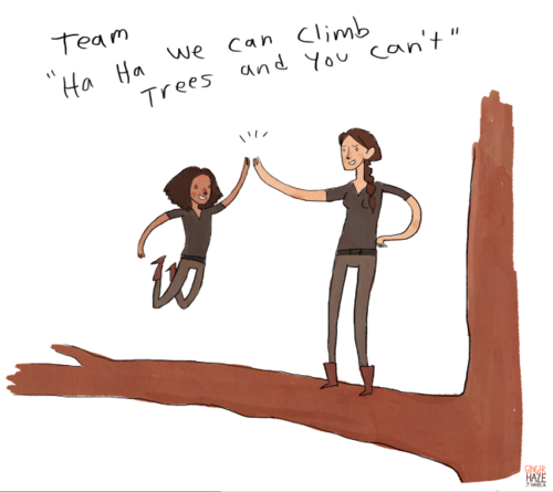 Team Katniss and Rue!