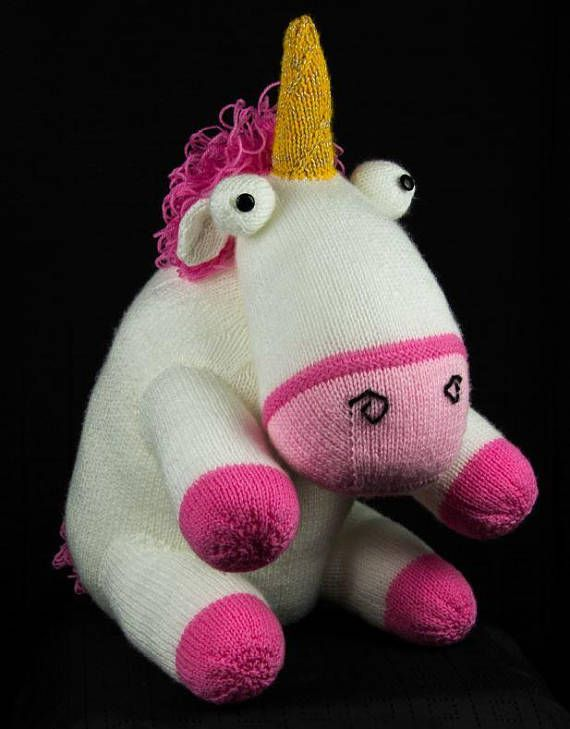 Knitting Pattern Lifesize Unicorn From Despicable Me Childrens Toy