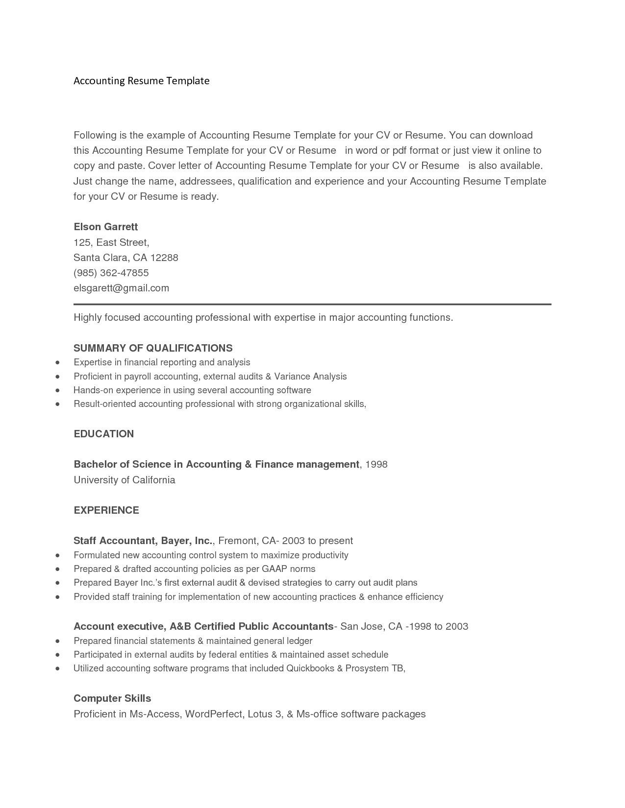 Copy A Resume Copy And Paste  Pinterest  Template