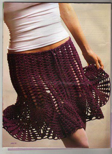 Burgundy skirt with diagram
