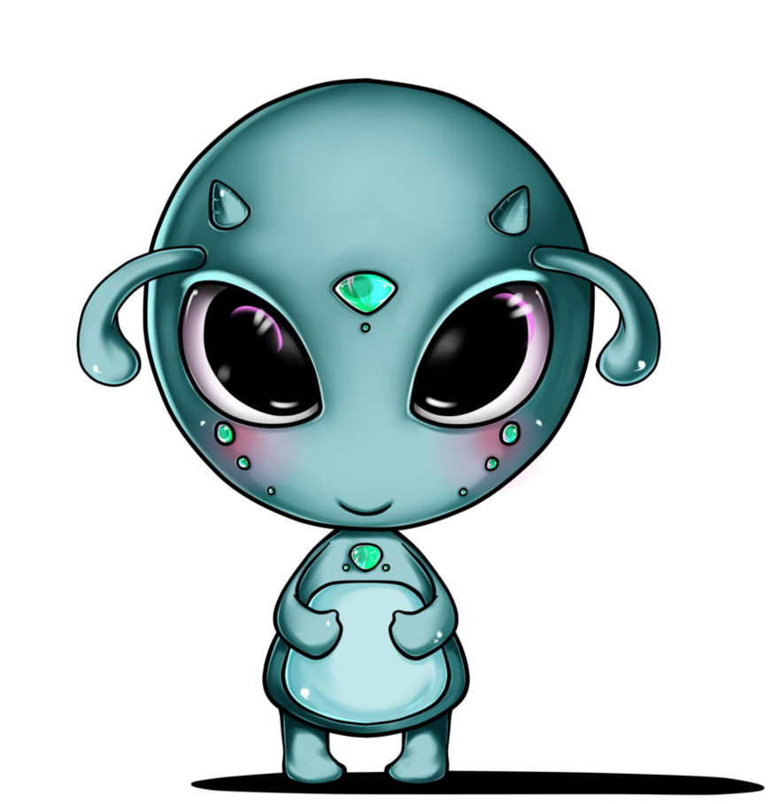 Картинка для детей инопланетянин на прозрачном фоне