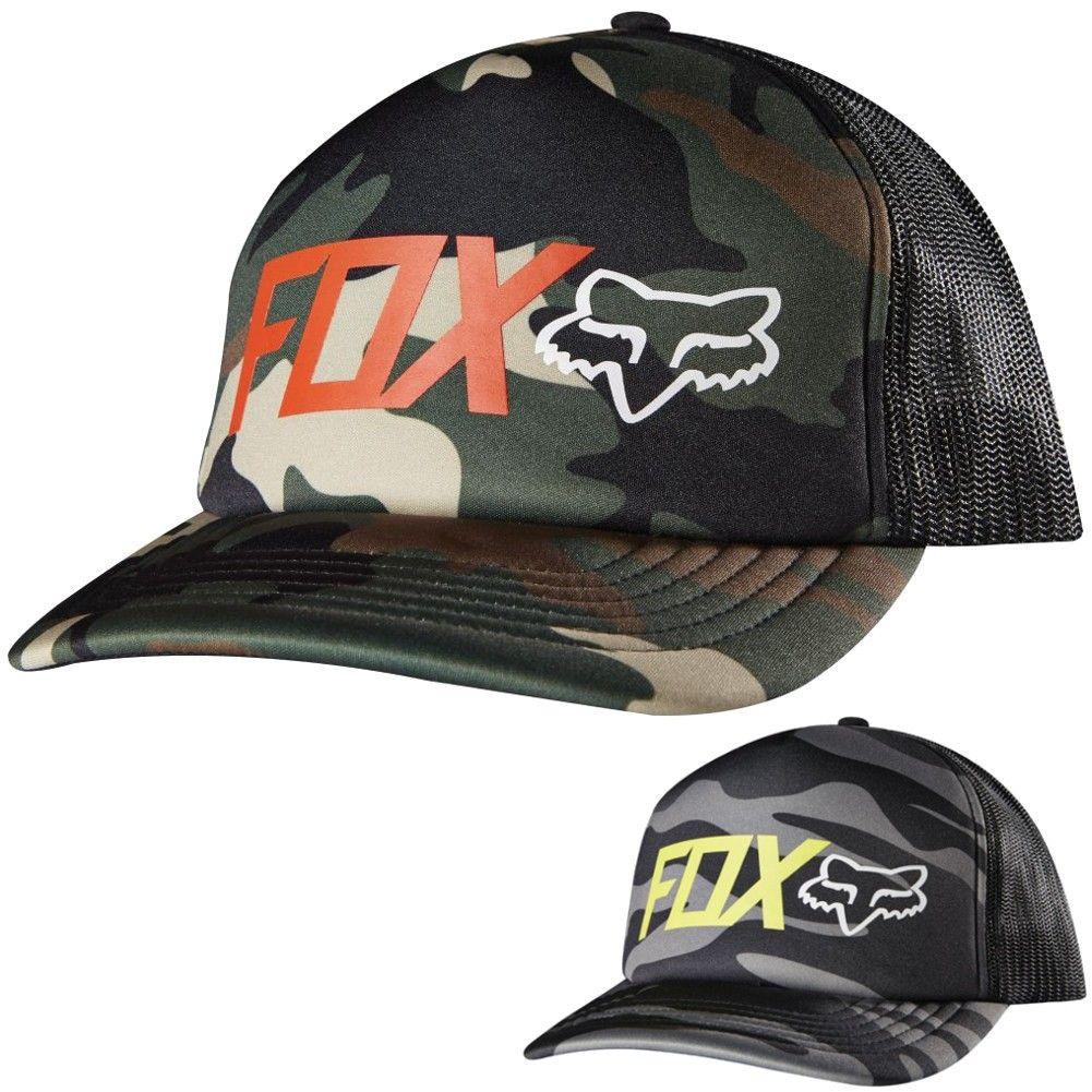 ef2175787e6f0 Fox Racing Mens Muddle Camo Casual Snapback Cap MX Motocross Moto Trucker  Hat