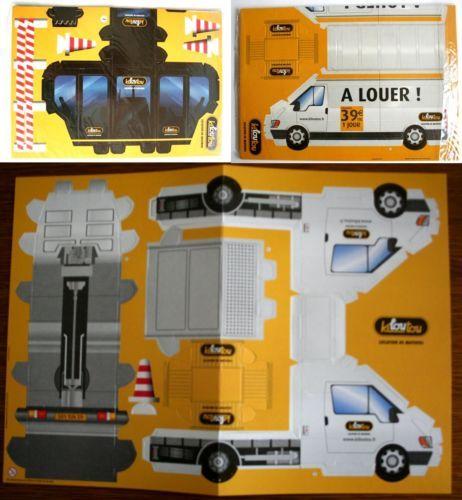Maquettes carton a decouper et a construire 2 camionnettes for Voiture a construire