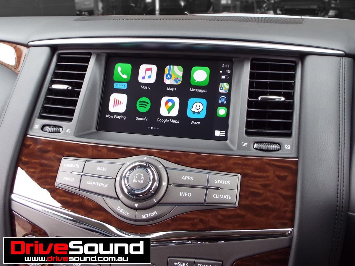 Nissan Y62 Patrol With Apple Carplay Installed By Drivesound In 2020 Apple Car Play Carplay Nissan Patrol