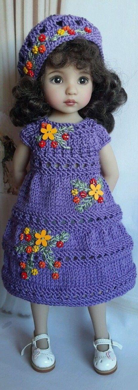 Crochet Outfit for LIttle Darling- Effner | ropa muñecas | Pinterest ...