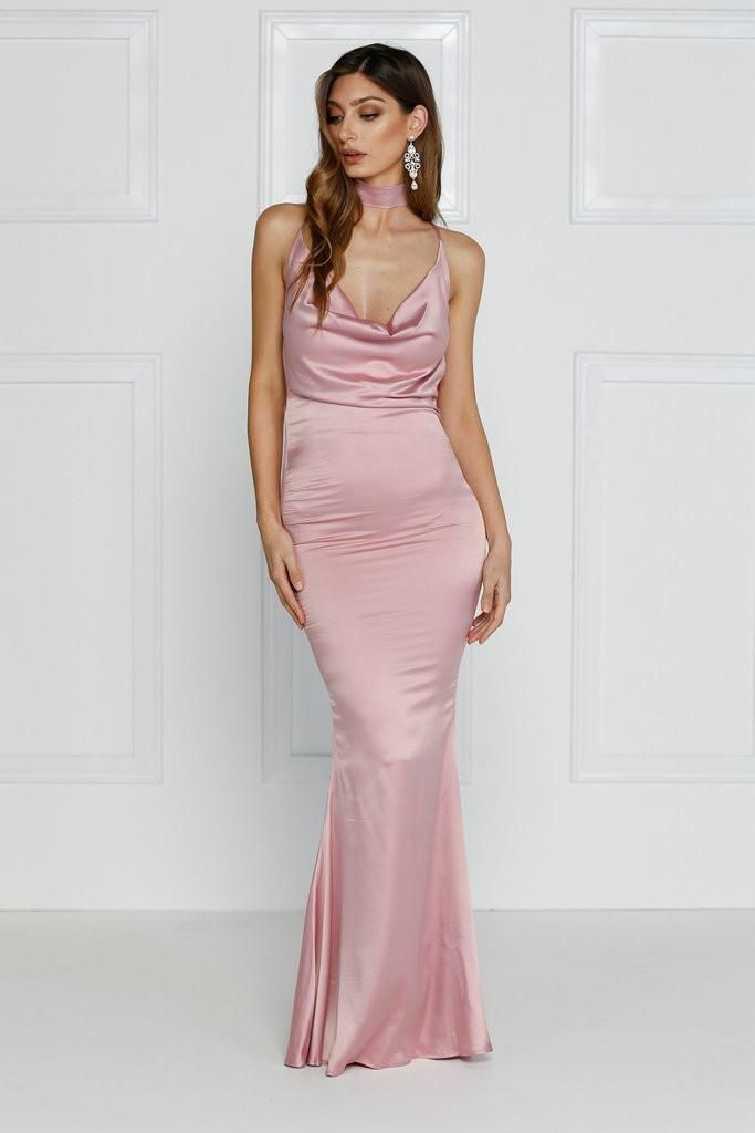 Cristanemi Gown - Dusty Pink #formal #pink #dress #crystal #maxi ...