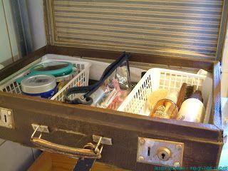 storing things in bathroom