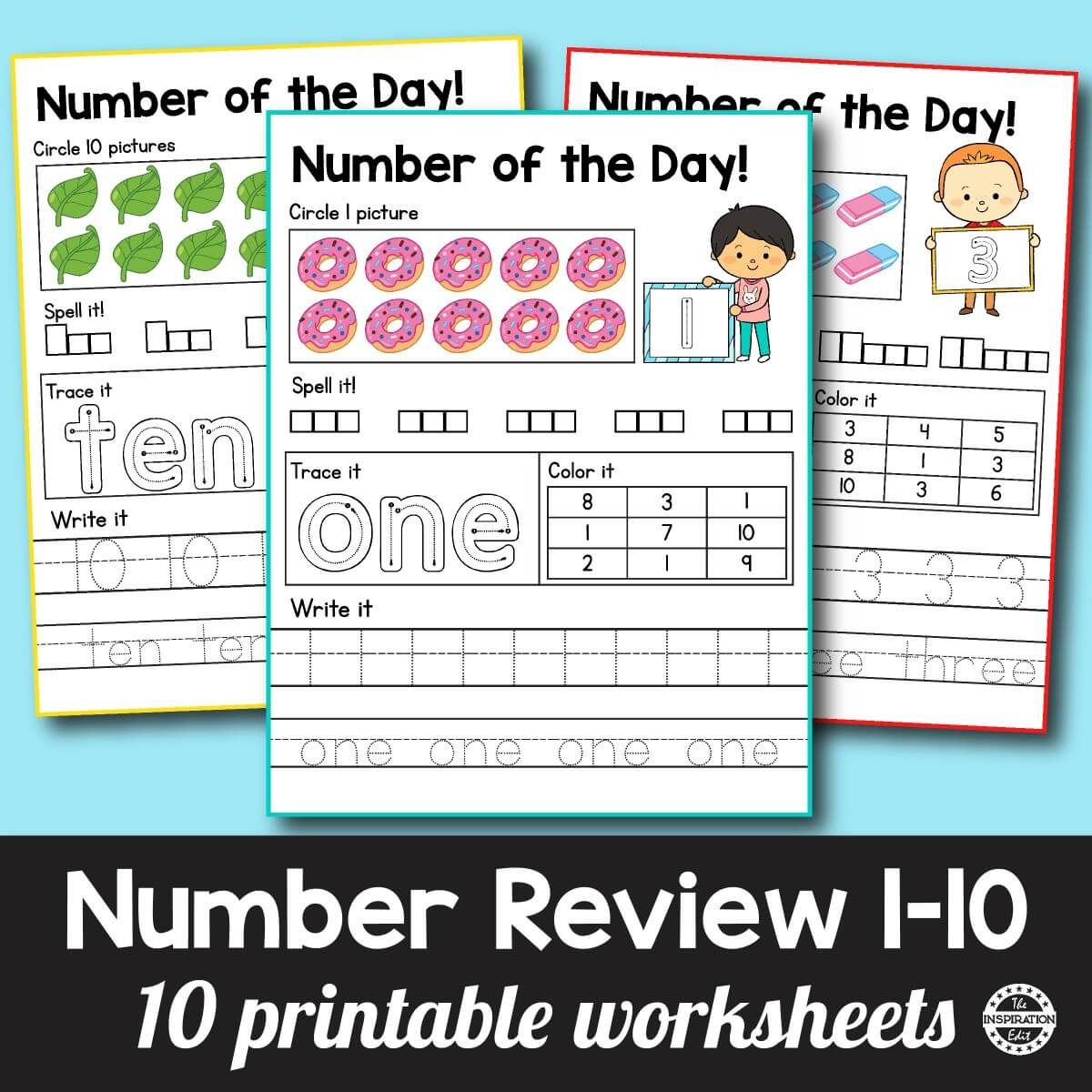 Fantastic Number Of The Day Preschool Worksheets