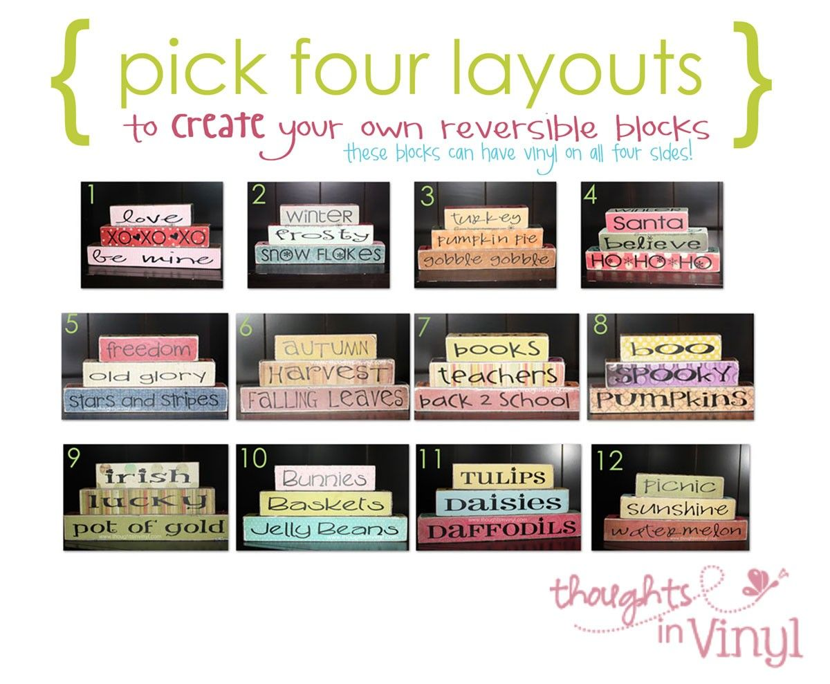 Reversible Blocks...you Get To Pick Four Different Layouts