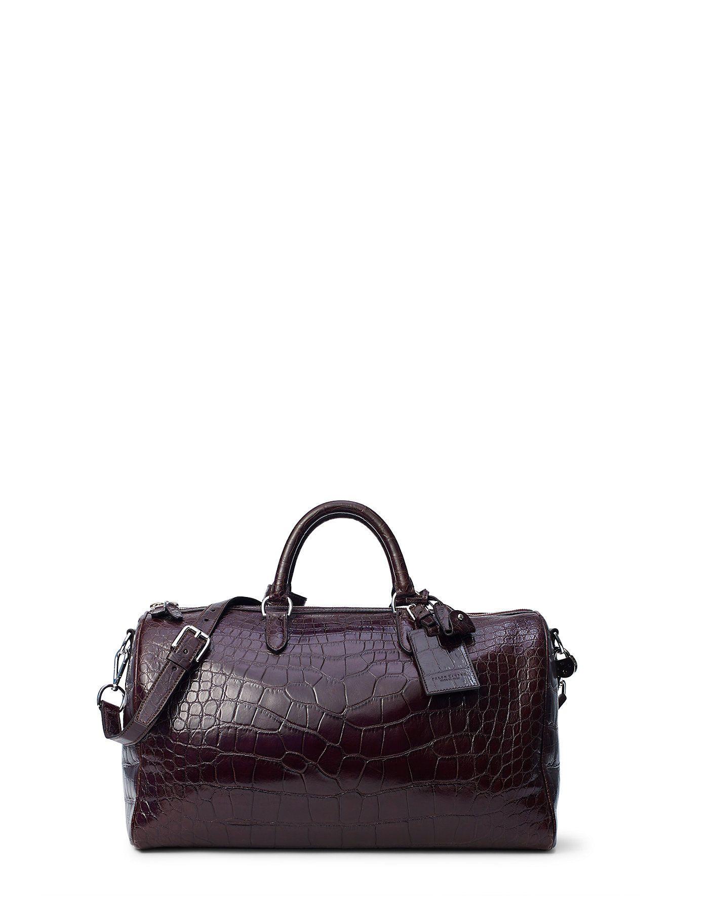 7184247c5bfc Ralph Lauren Boston Alligator Bag