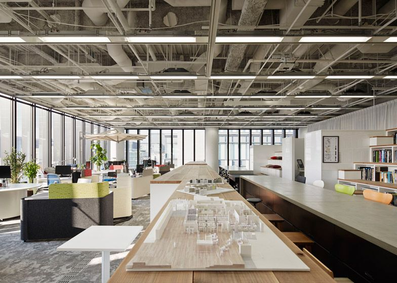 japanese office design. Japanese Office Featuring A Bleacher-style Bookcase. Design