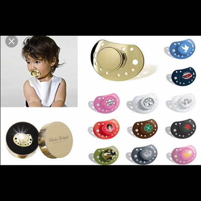 Designer baby pacifiers. Follow my Wonderfully Weird fashion Instagram @sincerekaye #couture# #hautecouture# #vintagestyle# #vintage# #vintagefashion# #baby# #pacifier# #newborn# #birth# #crying# #milk# #fashionaddict# #fashion# #fashionweek# #fashionblogger# #fashionista# #heels# #stilettos# #platforms# #wedges# #pumps# #sneakers# #sandals# #accessories# #accessorize# #gold# #pink# # camouflage# #gray# #blue# #white#
