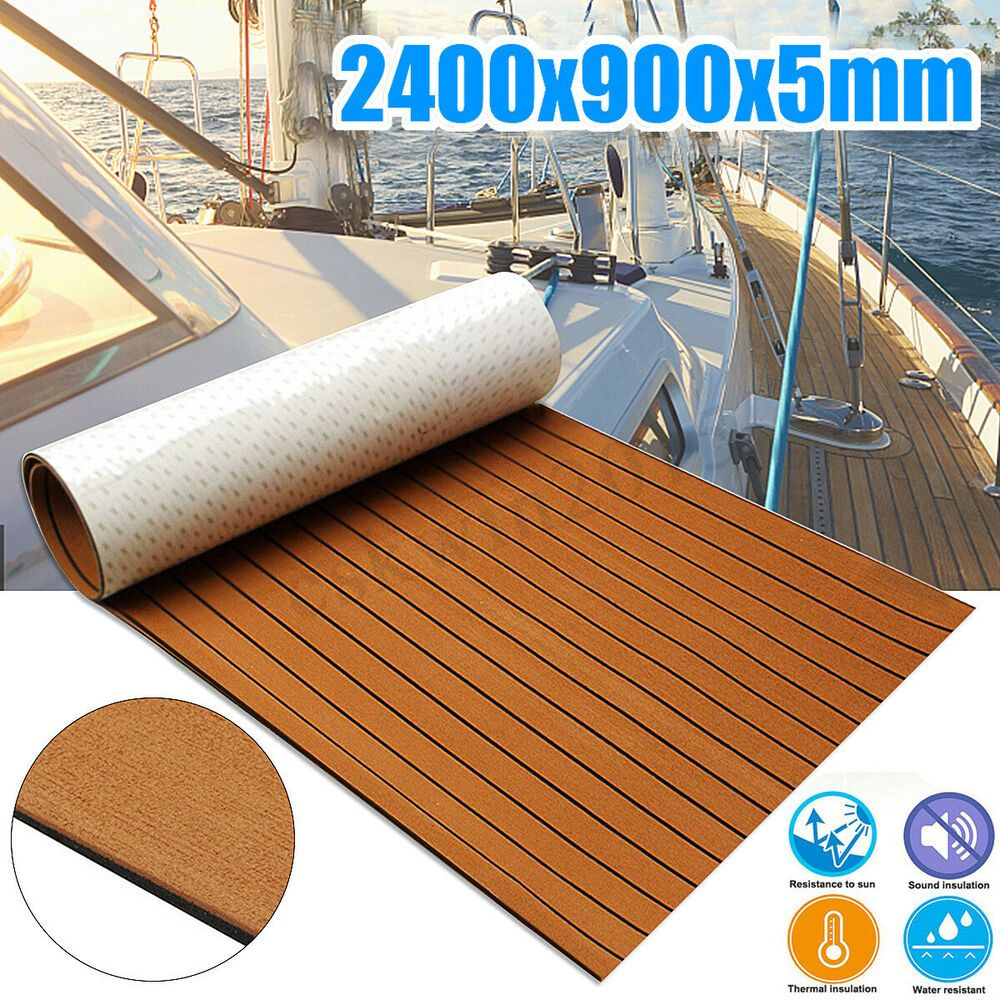 1 X Teak Decking Non Skid Eva Foam Faux Teak Sheets Provide Unparalleled Comfort And Exceptional Traction Even Marine Flooring Marine Carpet Yacht Flooring