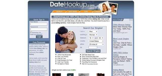 True free hookup sites
