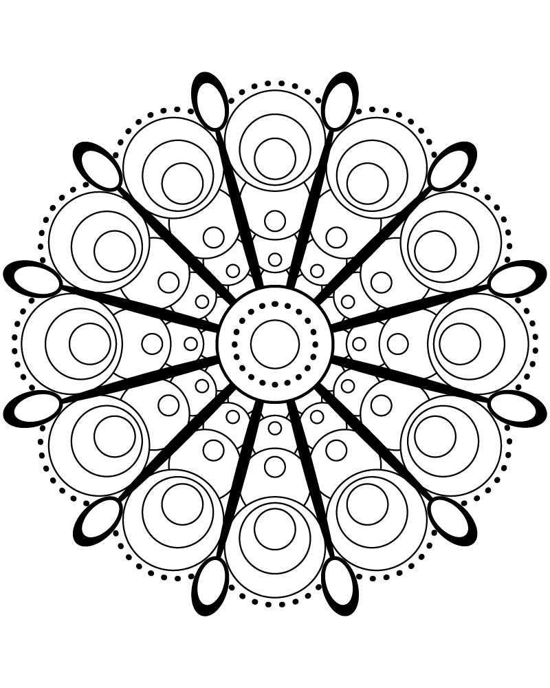 Circle Time M1 Color A Mandala Mandala Coloring Pages Mandala Coloring Coloring Pages